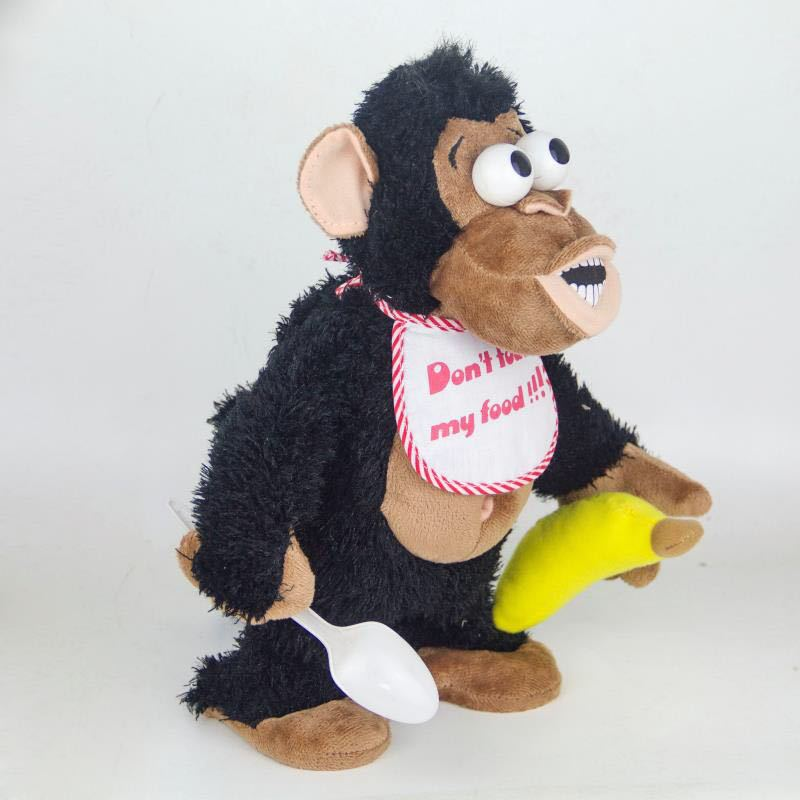 Stance Magnetron Monkey Plush Battery Toy Electric Monkey Off Bananas Crazy Christmas Gift