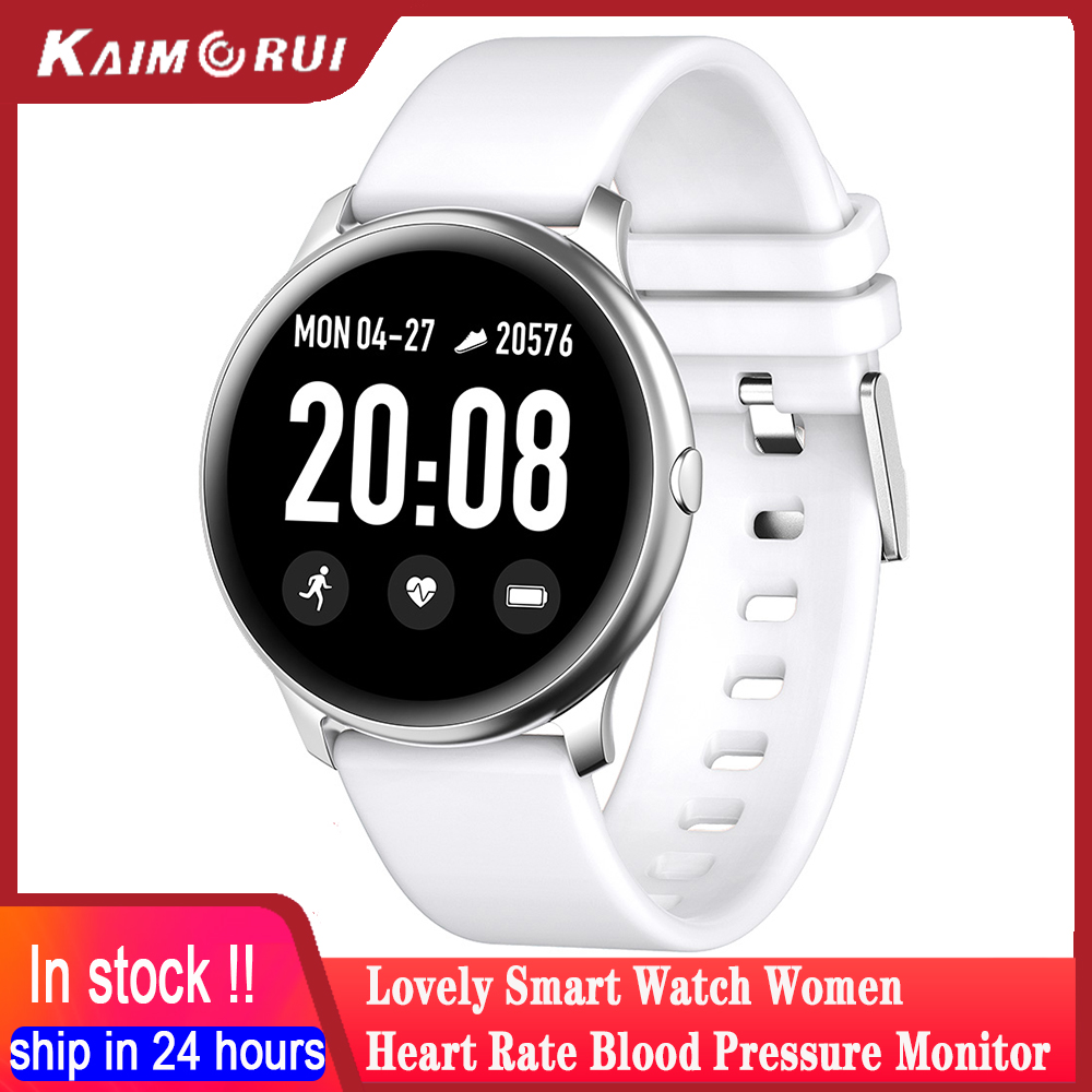 Kaimorui <font><b>KW19</b></font> <font><b>Women</b></font> <font><b>Smart</b></font> <font><b>watch</b></font> Heart rate monitor blood pressure Men Sport Smartwatch Fitness Tracker Connect Android IOS Phone image