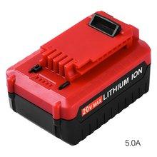 20 в 5.0Ah литий-ионный аккумулятор для Porter Cable PCC685L PCCK602L2 PCC600 PCC640 профессиональная Замена батареи Электроинструмент
