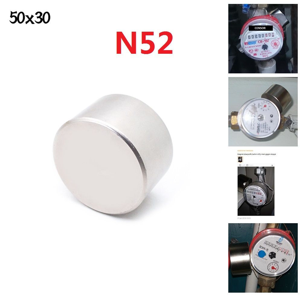 <font><b>Magnet</b></font> 1pcs N52 Dia 50x30 mm hot round <font><b>magnet</b></font> Strong <font><b>magnets</b></font> Rare Earth Neodymium <font><b>Magnet</b></font> 50x30mm wholesale 50*30 mm IMANES image