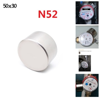 Magnet 1pcs  N52 Dia 50x30 mm hot round magnet Strong magnets Rare Earth Neodymium 50x30mm wholesale 50*30 IMANES