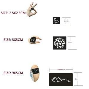 Image 5 - 17 Sheet 264 Maps Professional Waterproof Henna Tattoo Templates Temporary Glitter Airbrush Tattoo Hand Finger Drawing #242095
