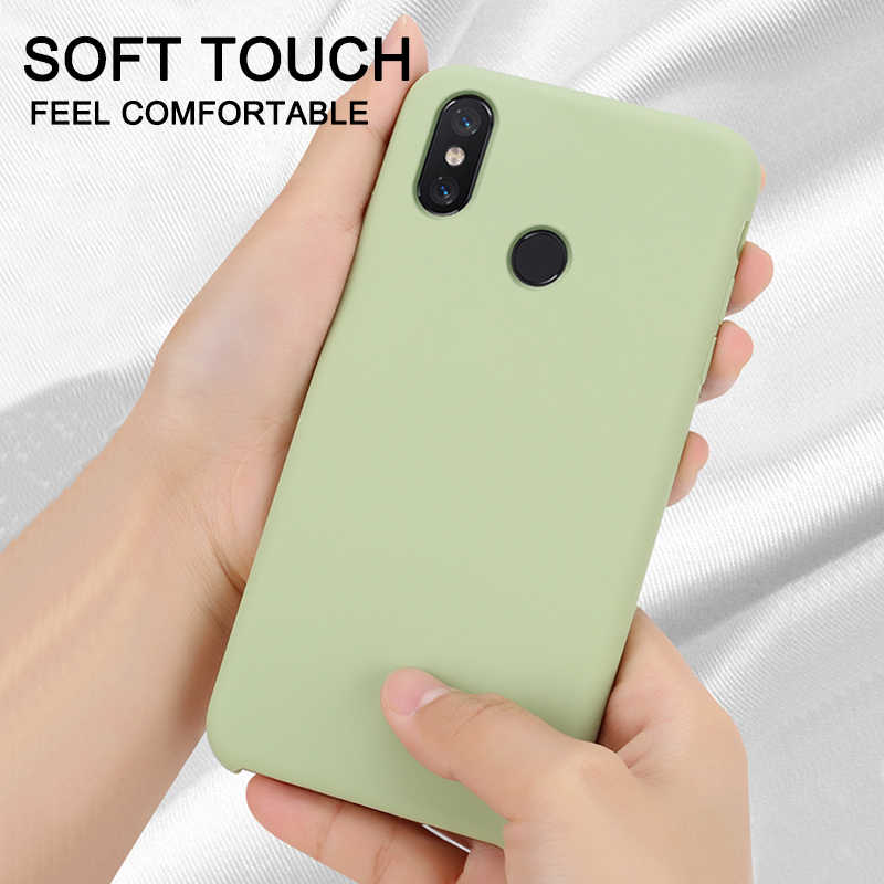 Official Style Silicone Case For Xiaomi Redmi Note 8 7 6 5 K20 Pro 4X 5 Plus S2 Mi 9 8 SE 9T Pro 8 Lite A2 6X Mix 2s Mix 3 Cover