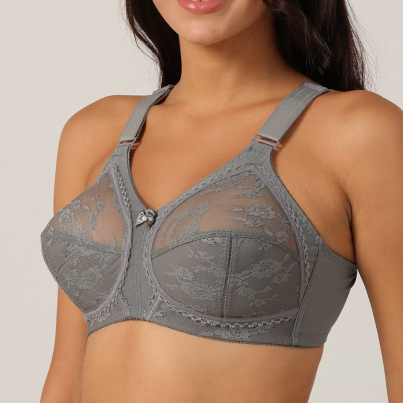 No Rims Thin No Sponge Hollow out  Sexy lace Bra Lingerie  Full Cup Large Cup Thin Plus Size  Bras for Women Underwear