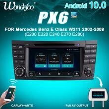 PX6 2 DIN Android 10 автомобиль радио для Mercedes Benz e класс W211 E200 E220 E300 E350 E240 E270 E280 W219 2DIN Авто аудио GPS навигация
