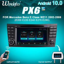 PX6 2 DIN Android 10 radio del coche para Benz Clase E W211 E200 E220 E300 E350 E240 E270 E280 CLS W219 2DIN audio de coche navegación dvd