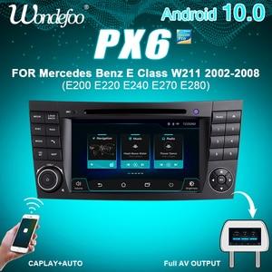 Image 1 - PX6 2 DIN Android 10 radio del coche para Benz Clase E W211 E200 E220 E300 E350 E240 E270 E280 CLS W219 2DIN audio de coche navegación dvd