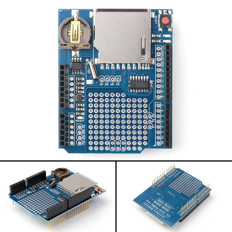 Recorder Data Logger Module Logging Shield XD-204 For Arduino UNO SD Card XD204 Data Logging Shield FZ60