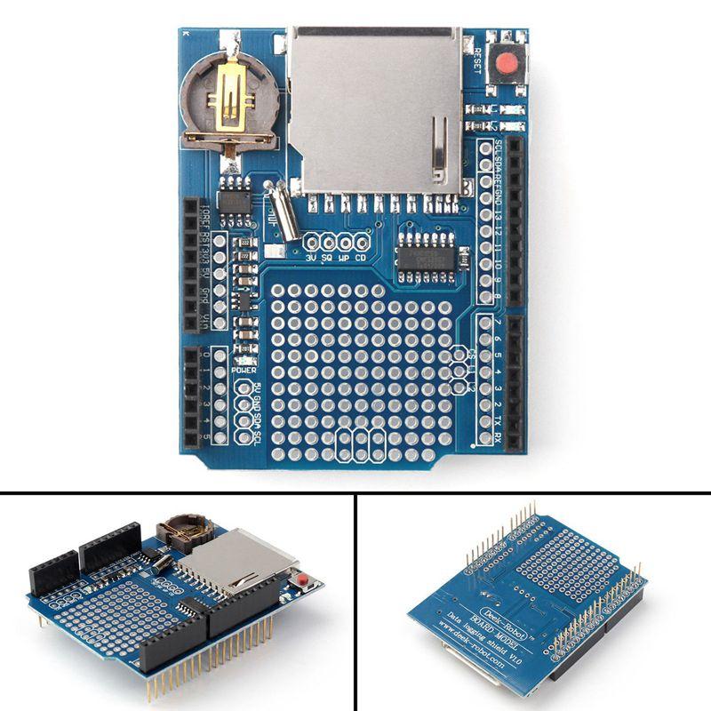 Recorder Data Logger Module Logging Shield XD-204 For Arduino UNO SD Card XD204 Data Logging Shield FZ60