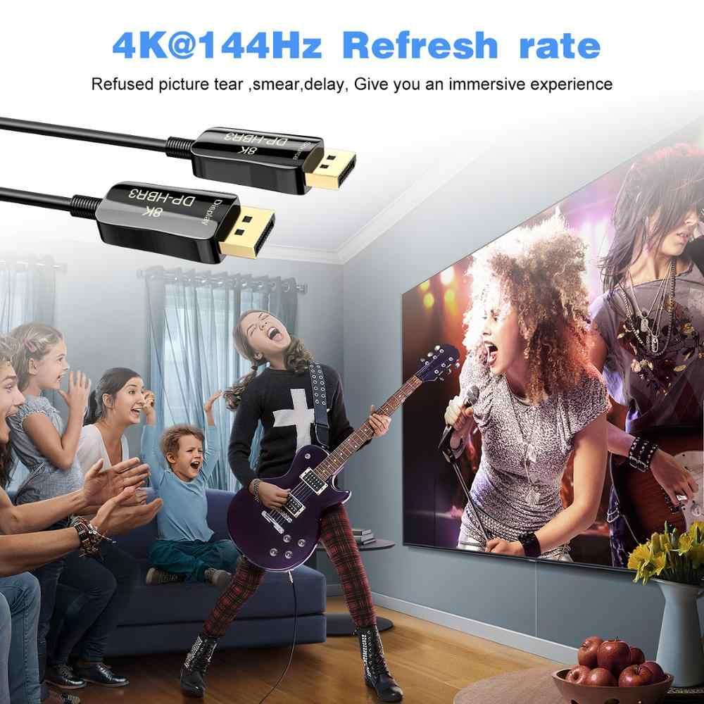 DisplayPort 1.4 kabel 8K 4K HDR 165Hz 60Hz port wyświetlacza Adapter do komputera wideo Laptop TV DP 1.4 port wyświetlacza 1.4 kabel