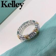 Kelley high quality original Tiff 925 sterling silver ring couple models brand design ladies fashion luxury jewelry wedding gift