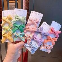 3 pièces/ensemble mignon nœuds épingles à cheveux pour filles fleur impression cheveux nœuds Boutique pince à cheveux pour enfants filles Barrettes cheveux accessoires