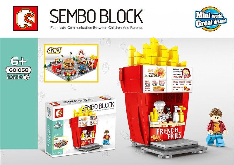 SD601055 58 MINI Straße Serie eis/hamburger/shop Bausteine Ziegel Kinder Pädagogisches Spielzeug Modell Geschenke-in Sperren aus Spielzeug und Hobbys bei  Gruppe 3
