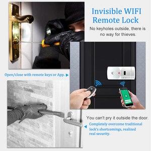 Image 2 - WAFU WF 011W Unsichtbare Keyless Smart Türschloss 433MHz Elektronische Türschloss Unterstützung iOS Android APP WIFI Steuerung Entriegeln