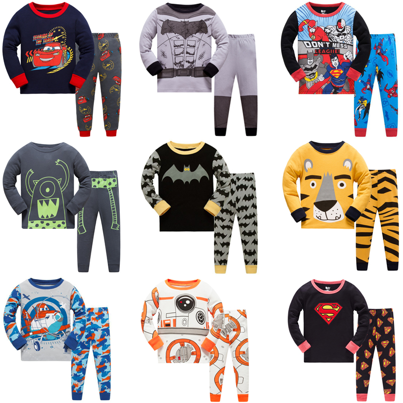 New Children Pajamas Sets Boys Cars Cartoon Animal Print Nightwear Girls Family Pajamas Kids Clothes Sleepwear Baby Pyjamas