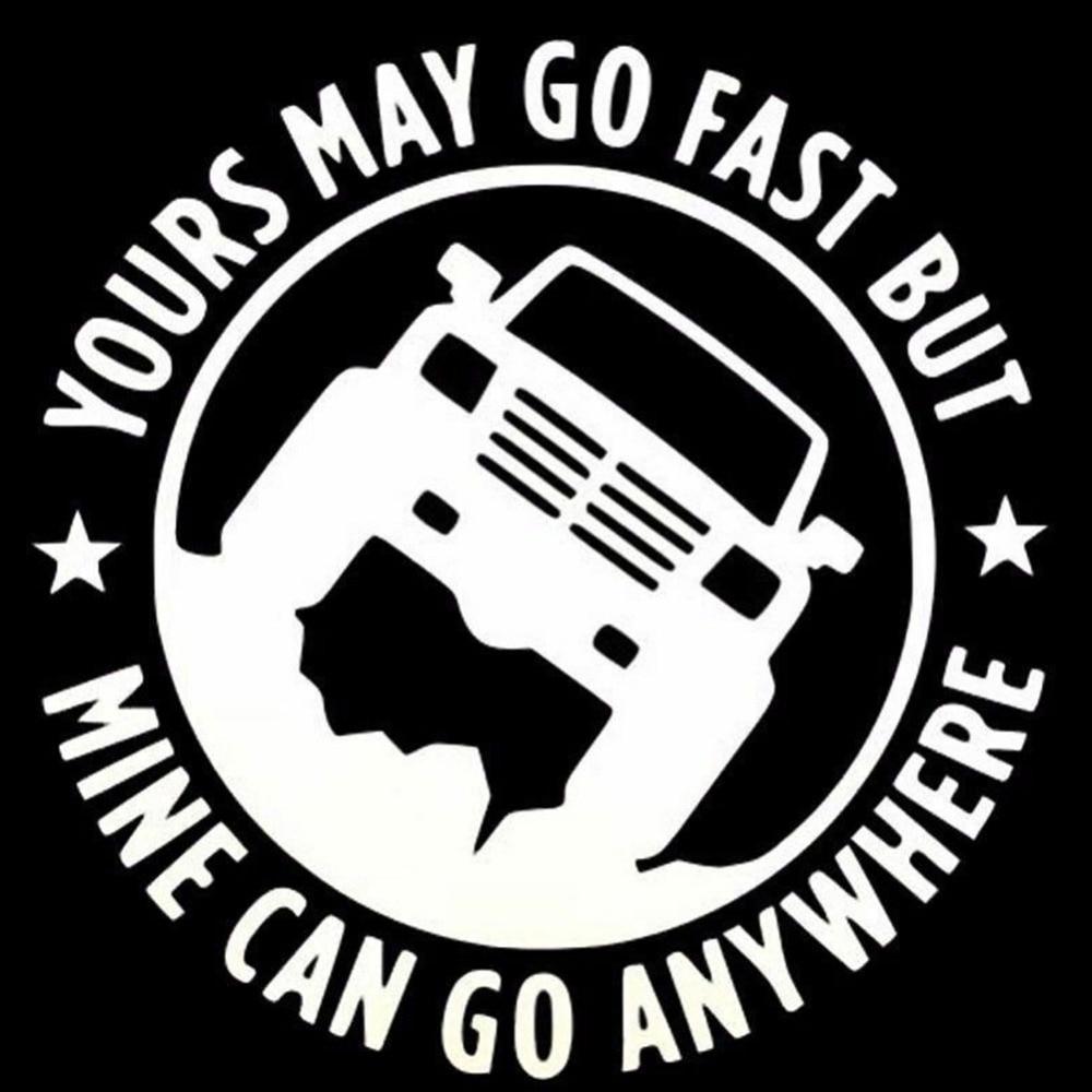 Otomobiller ve Motosikletler'ten Araba Çıkartmaları'de Sizin gidebilir hızlı ama maden herhangi bir yere gidebilir komik araba Decal vinil yapışkan title=