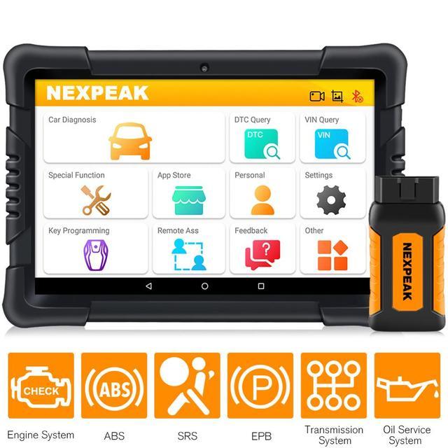 NEXPEAK K1 Pro ماسح ضوئي لتشخيص السيارة ، أداة تشخيص السيارة ، إعادة تعيين الزيت ، ABS ، وسادة هوائية ، EPB ، DPF ، Obd 2 ، Bluetooth ، جميع الأنظمة