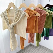 Female shawl autumn outside winter knit shawl summer female