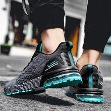 Zapatillas deportivas cómodas transpirables para hombre, zapatos masculinos de estilo Casual, a la moda, con cordones, 2019