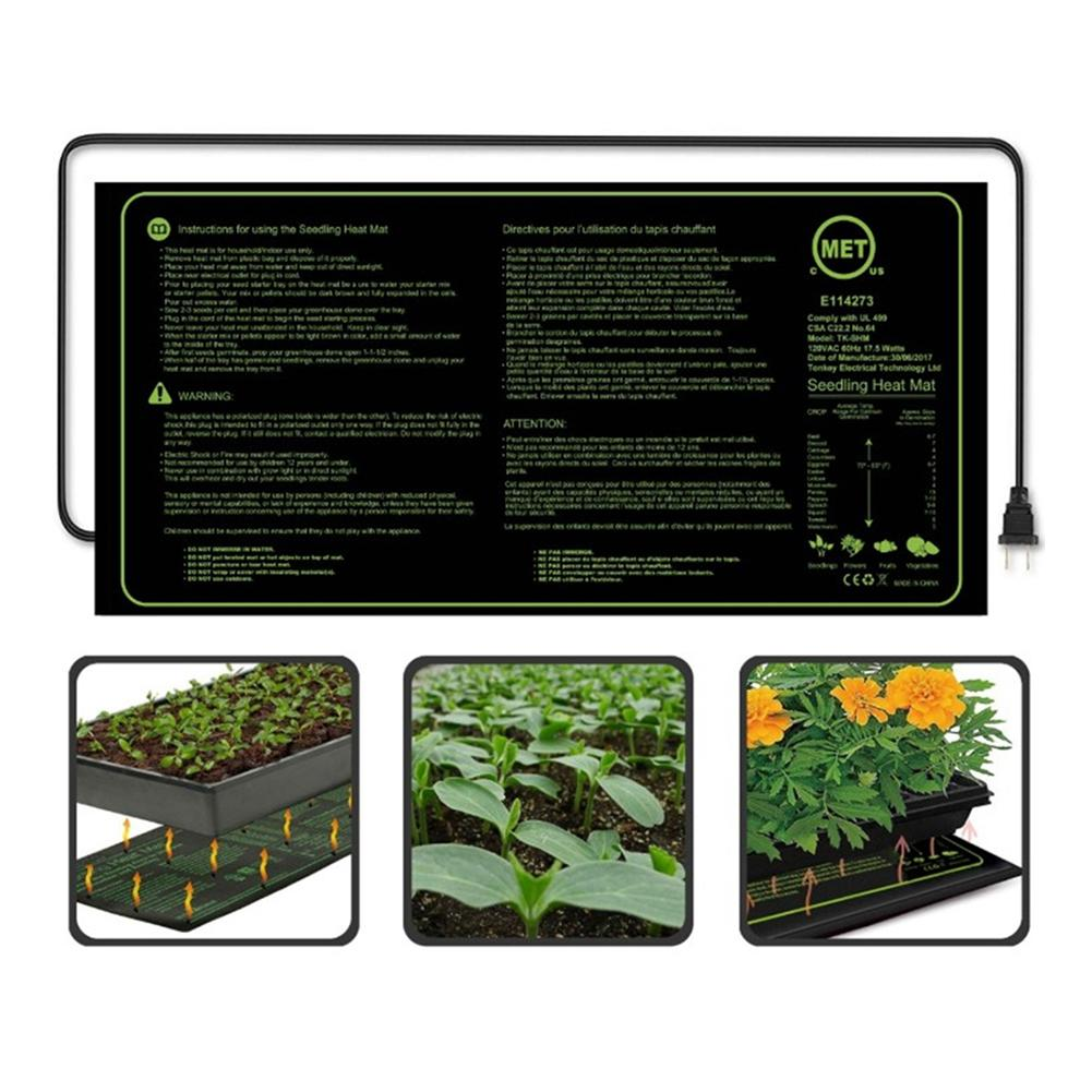 US/EU Seedling Heat Mat Plant Seed Germination Propagation Clone Starter Pad Vegetable Flower Garden Tools Supplies Greenhouse