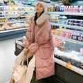 4000203926677 - 2019 nueva chaqueta de invierno larga suelta de algodón acolchado chaqueta abrigo mujer sobre la rodilla engrosamiento pan
