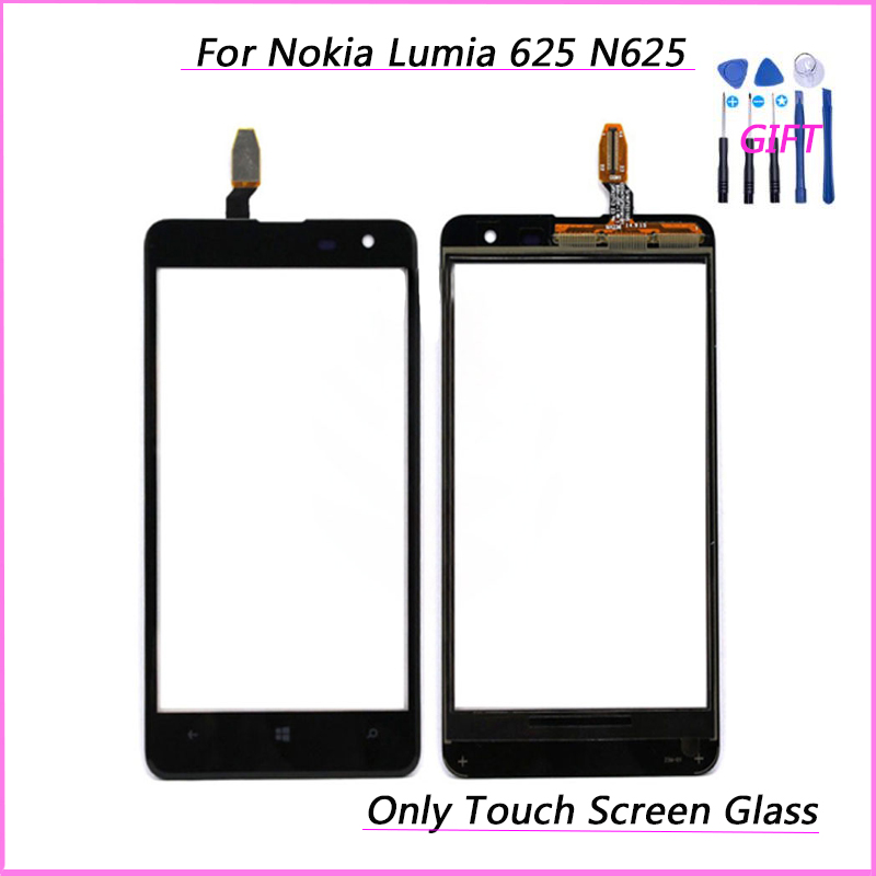 For Nokia Lumia 625 N625 RM-941 RM-943 Touch Glass Front Glass Digitizer Panel Sensor replacement Parts  (No lcd)