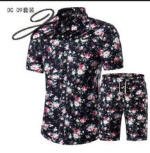 Xnxee 2019 shirt suit large size short-sleeved printing male summer new style 5XL