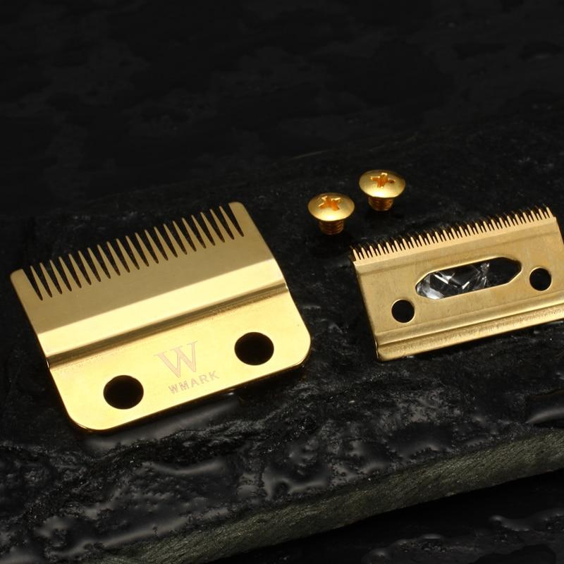 Профессиональная машинка для стрижки волос WMARK с 2 отверстиями, лезвие цвета радуги серебристого цвета золотого цвета, Сменное лезвие W-2 для ...