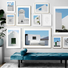Morocco Style Geometric House Building Wall Art Canvas Painting Nordic Posters And Prints Pictures For Living Room Decor