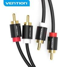Vention – câble Audio mâle vers mâle 2RCA, pour amplificateur DVD de télévision, cinéma maison, câble RCA plaqué or de 1m 2m 3m 5m