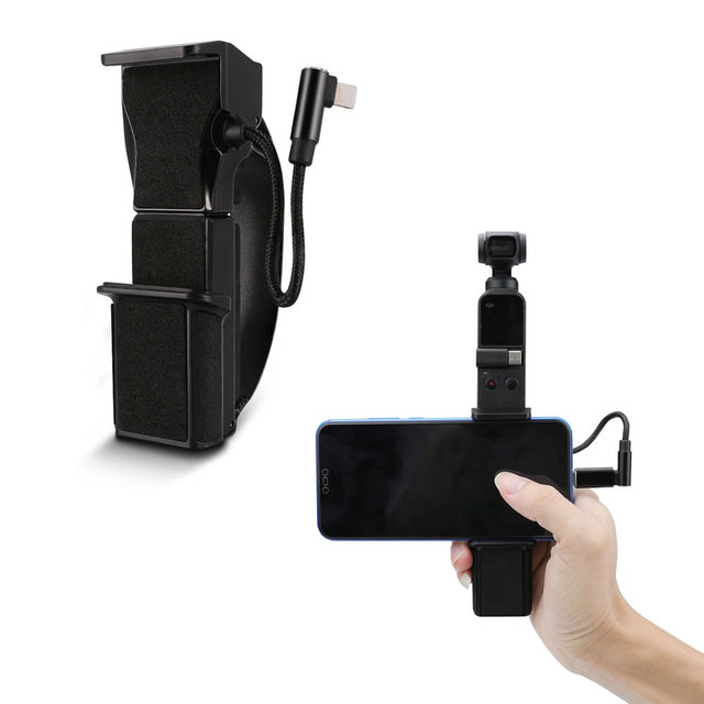 All in one Handheld Bracket Built in Data Cable for Connection To Mobile Phones Hand Grip Support for Osm Pocket Accessories
