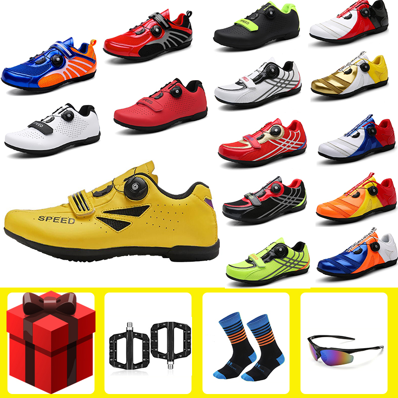 Cycling Shoes Road Sapatilha Ciclismo Mtb Women Sneakers Men Outdoor Professional Bicycle Non-Slip No-Lock Mountain Bike Shoes