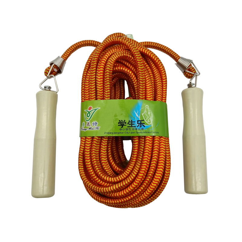 Liang Jian Manufacturers Direct Selling Sports Activity Collective Jump Rope 5 M 7 M 9 M Big Spring Wooden Handle Cotton Binder