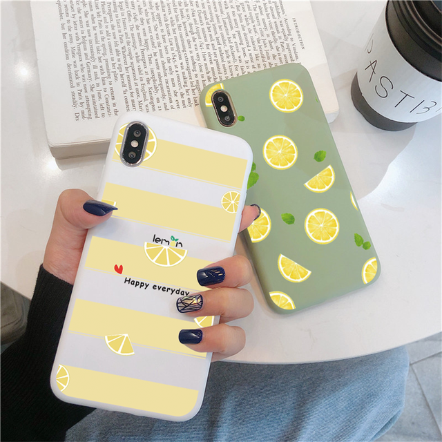 Fruit Flower Soft Phone Case For iPhone 7 Plus X XR XS Max 6 6S 7 8 Plus 5 5S SE 2020 Back Cover For iPhone 12 11 Pro Max Funda 2