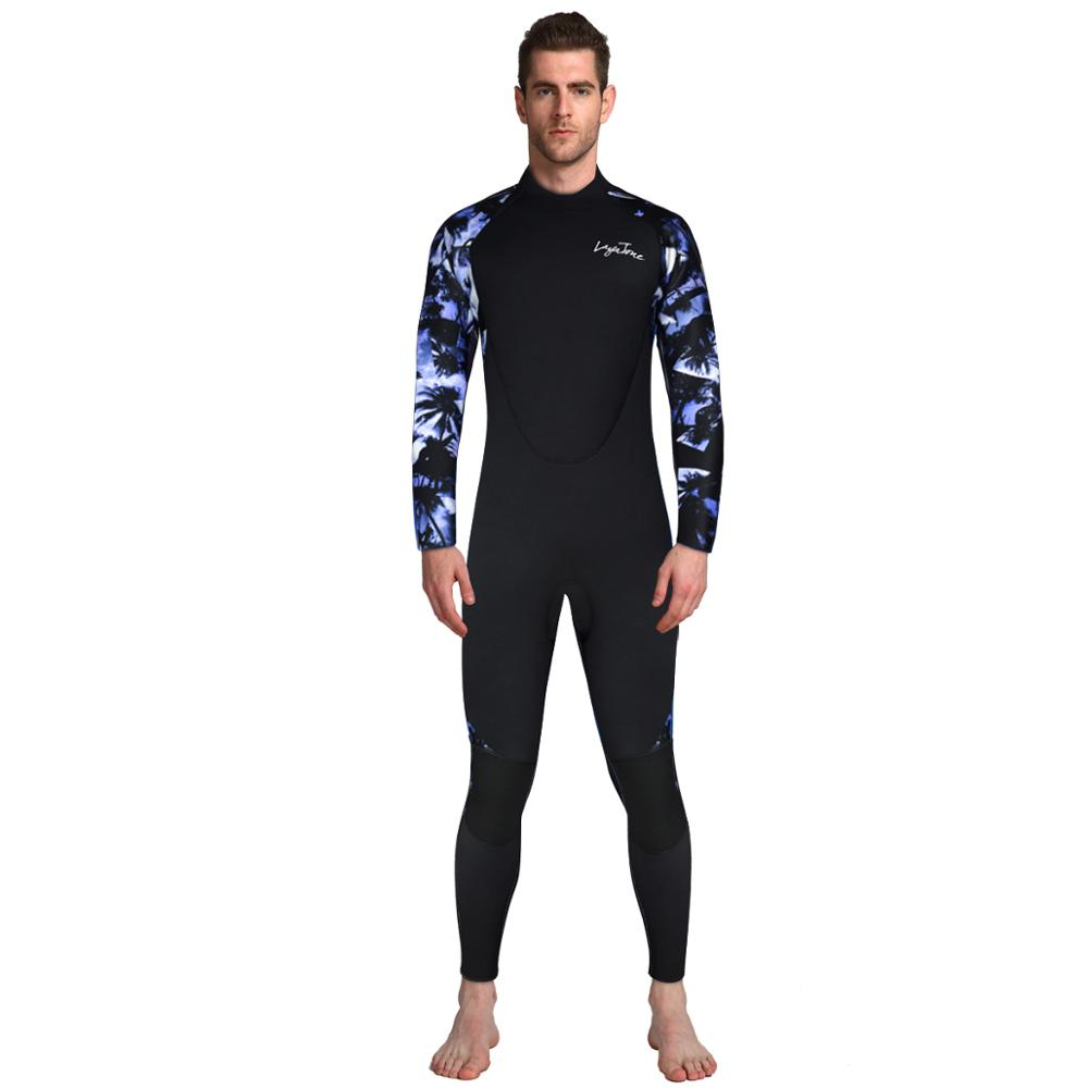 Layatone wetsuit 3 mm diving suit for men neoprene for spearfishing surfing spearfishing with breathing tube Long Sleeve suit