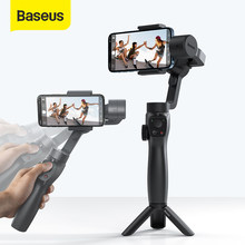 Baseus 3-axis cardan handheld sem fio bluetooth telefone cardan estabilizador para iphone tripé cardan smartphone estabilizador cardan