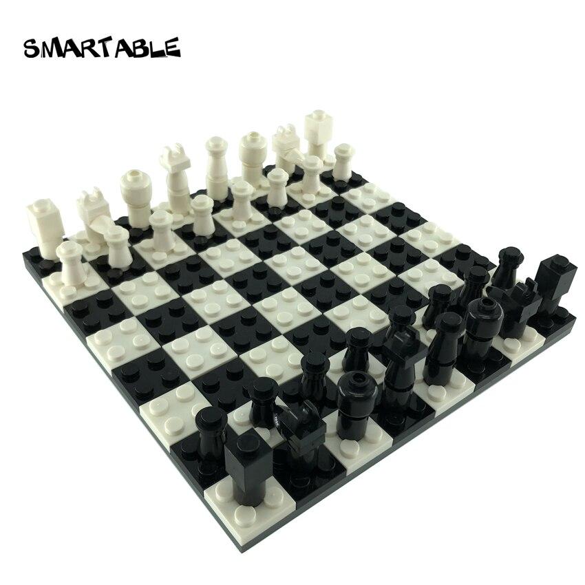 Smartable Iconic Chess Set MOC Parts Building Blocks Toys Set For Kids DIY Educational Compatible Major Brands Christmas Gift