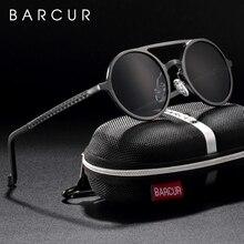 Óculos de sol estilo steampunk, óculos de sol de marca de designer em steampunk, retrô, de alumínio e magnésio, unissex