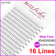 fast shipping 16 lines 0.07/0.10mm Best Heat Bonded Premade Wide fans 3d/4d/5d/6d Eyelashes Pre made Volume Eyelash Extension