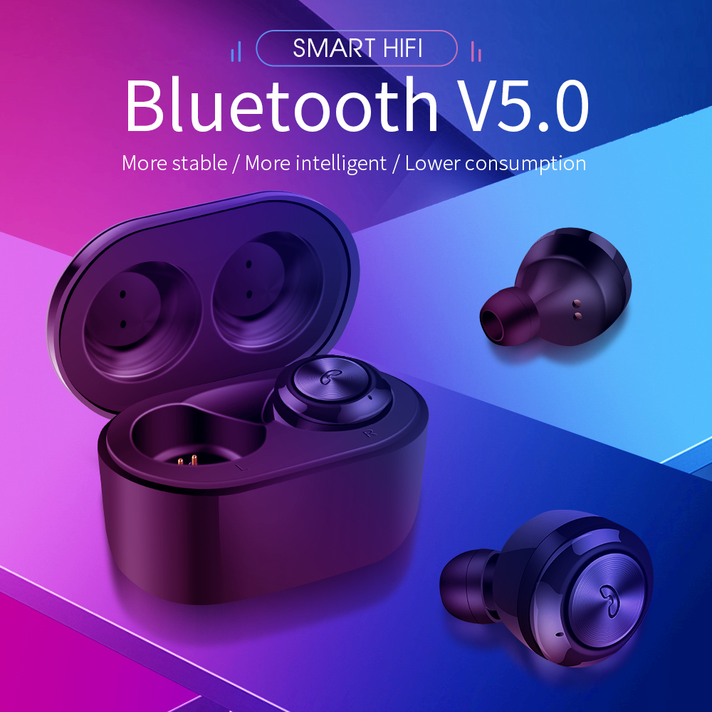 Bluetooth Earphone <font><b>TWS</b></font> <font><b>Wireless</b></font> Headset V5.0 HIFI Voice Sport Headphone Stereo Earbuds with 300 mAh Charging box <font><b>A6</b></font> image