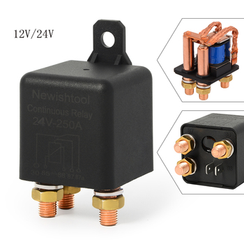 12V 24V 250A 5Pin High Power Car Automotive Relay Continuous Type On/Off Normally Open  Battery Control Switch Auto Accessories new automotive relay 12v 100a 5pin spdt car control device car relays automobile parts