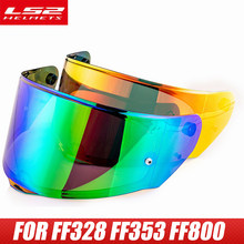 Visière de casque de moto complète, visière extra transparente, lentille arc-en-ciel noire uniquement pour LS2 FF328 FF320 FF353 FF800