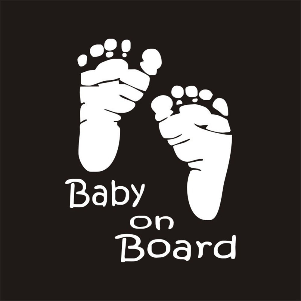 Baby on Board Foot Print Feet Car Bumper Decal Art Sticker Picture Funny Humour