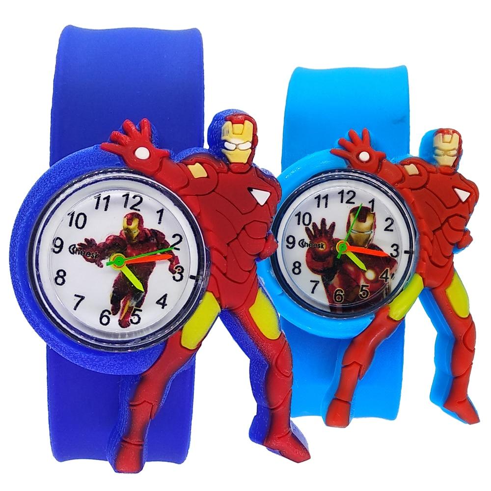 Cartoon Iron-man Child Watch Super Hero Batman Student Children Clock Kids Quartz Wrist Watches For Girls Boys Baby Toy Gifts