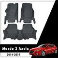 Для Mazda 3 Axela 2019 2018 2017 2016 2015 2014 автомобильные коврики декоративные кожаные автомобильные протекторы напольные ковры Стайлинг