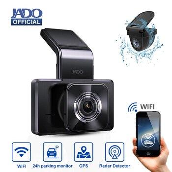 JADO D330 Dash Cam Video Recorder Car DVR Camera Rearview Car Camera Dashcam 24H Parking Monitor Recorder GPS 1080P
