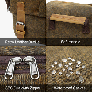 Image 3 - Photo Video Camera Waterproof Canvas Shoulder Retro Vintage DSLR Bag Carrying Case for Canon Nikon Sony SLR Photography
