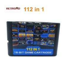 Nouveauté Collection de jeux chauds 112 en 1 pour carte de jeu 16 bits pour Sega Mega Drive MD pour Megadrive