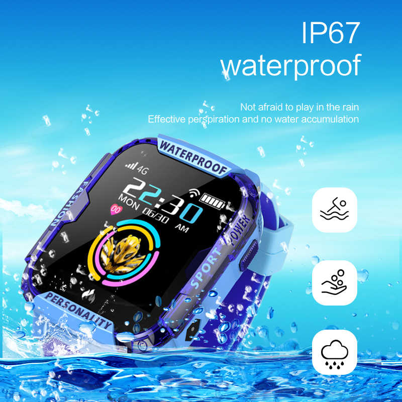 2019 جديد 4G الأطفال ساعة ذكية مكالمة فيديو ساعات الطفل لتحديد المواقع دقيقة لمكافحة خسر مقاوم للماء طفل smartwatch الاطفال هدية
