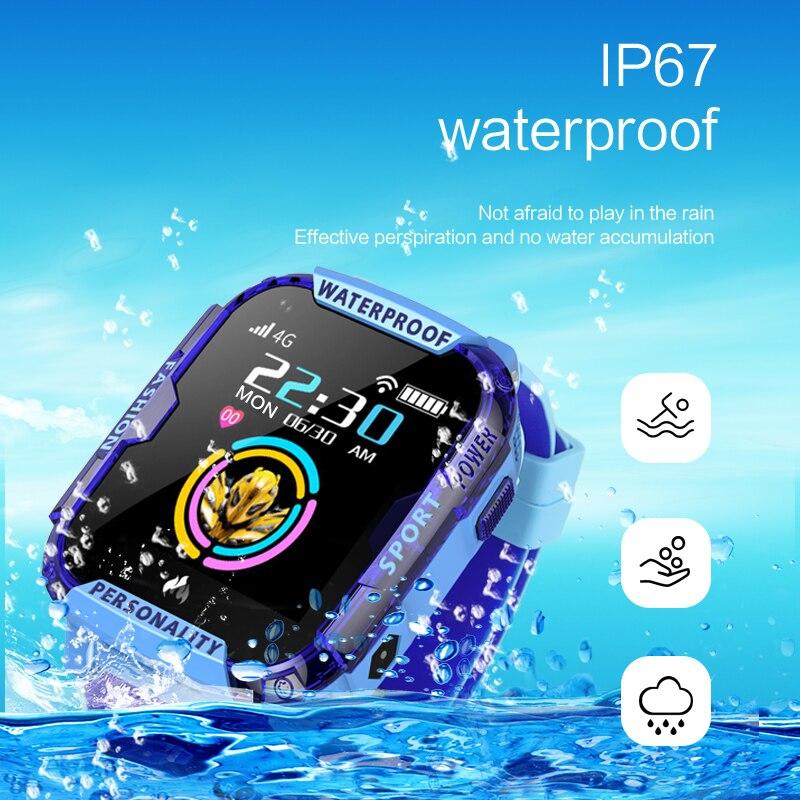 2019 novo 4g crianças relógio inteligente chamada de vídeo do bebê relógios gps posicionamento preciso anti perdido à prova dlost água miúdo smartwatch crianças presente